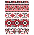 Ukrainian embroidery ornament vector image vector image