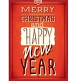Vintage new year vector image vector image