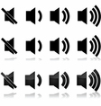 Volume icons vector image vector image