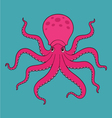 Purple cartoon octopus vector image