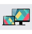 Laptop monitor set vector image