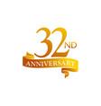 32 year ribbon anniversary vector image vector image