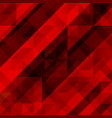 abstract red background colorful mosaic vector image vector image