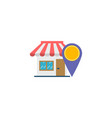 accepted shop flat icon vector image
