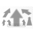 arrow set shadow overlay many arrows in different vector image