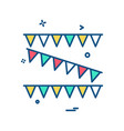 birthday icon design vector image