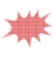 boom bang halftone icon vector image