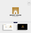 bright light house finance business logo template vector image