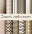 brown geometric seamless pattern vector image vector image