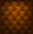 Brown upholstery leather pattern background vector image