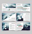 business presentation corporate marketing report vector image vector image