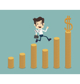 Businessman go to success vector image vector image