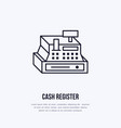 cash register flat line icons retail store vector image vector image