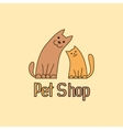Cat and dog are best friends sign for pet shop vector image vector image