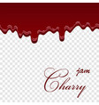 cherry dripping 3d seamless pattern liquid vector image vector image