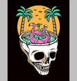 chill out on skull beach vector image