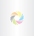 colorful business tech circle icon logo vector image vector image