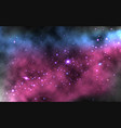 colorful nebula background realistic space vector image vector image