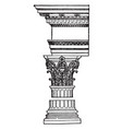 corinthian order common amonth the romans vintage vector image vector image