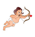 cupid shooting a love arrow vector image vector image