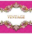 decorative volumetric vintage background frame vector image vector image