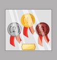 differents medals to win the championship in the vector image vector image