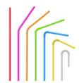 drinking straws set drink and cocktail vector image vector image