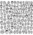 faces - doodles set vector image