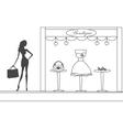 fashion girl Shopping doodle vector image vector image