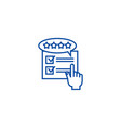feedback review rating line icon concept vector image