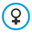 Female Symbol Rounded Icon vector image vector image