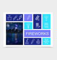 festive fireworks bright composition vector image vector image