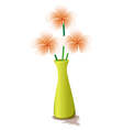 Flowers in a yellow vase vector image vector image