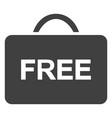 free case flat icon symbol vector image