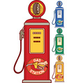 Gas Station Icon Set vector image vector image