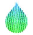 halftone blue-green drop icon vector image vector image