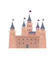 knight medieval brown castle for defending king vector image vector image