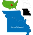 Missouri map vector image vector image