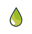 nice ecological drop to environment care vector image vector image