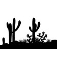 outline mexican landscape vector image vector image