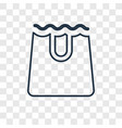 paper bag concept linear icon isolated on vector image