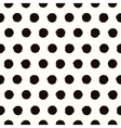 Polka dot black and white painted seamless pattern vector image vector image