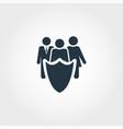 public safety creative icon monochrome style vector image vector image