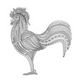 rooster chicken domestic farmer bird vector image