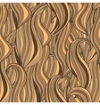 Seamless wave hand-drawn pattern brown waves vector image vector image