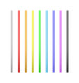 set colorful drinking straws straws for vector image vector image