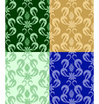 set of backgrounds with flora vector image vector image