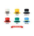 six thinking hats idea vector image vector image
