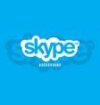 skype logo background image vector image vector image