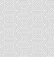 Slim gray vertical square spirals vector image vector image